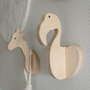 houten wandhaak flamingo fay