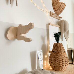 houten wandhaak krokodil kees